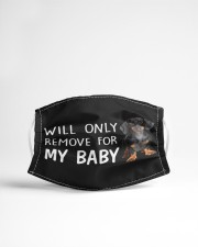 Dachshund Will Only Remove For My Baby Face Mask Cute Gifts For Girlfriend Cloth Face Mask - 3 Pack aos-face-mask-lifestyle-22