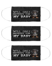 Dachshund Will Only Remove For My Baby Face Mask Cute Gifts For Girlfriend Cloth Face Mask - 3 Pack front