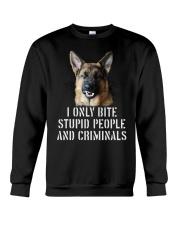 I Only Bite Stupid Peo Ple German Shepherd Crimina Crewneck Sweatshirt thumbnail