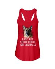 I Only Bite Stupid Peo Ple German Shepherd Crimina Ladies Flowy Tank thumbnail