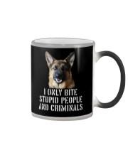 I Only Bite Stupid Peo Ple German Shepherd Crimina Color Changing Mug thumbnail