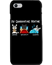 My Quarantine Routine husky4 Phone Case thumbnail