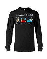 My Quarantine Routine husky4 Long Sleeve Tee thumbnail