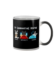 My Quarantine Routine husky4 Color Changing Mug thumbnail