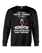 Dachshund I Don't Have A Short Temper Crewneck Sweatshirt thumbnail