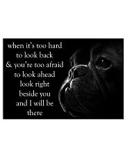 When It's Too Hard To Look Back Frenchie 24x16 Poster front
