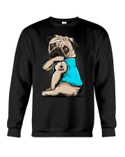 I Love Mom Pug Crewneck Sweatshirt thumbnail