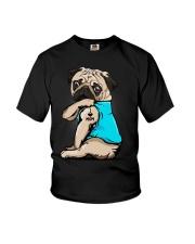 I Love Mom Pug Youth T-Shirt thumbnail