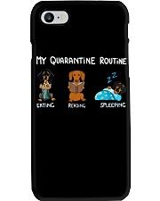 My Quarantine Routine dachshund3 Phone Case thumbnail