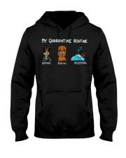 My Quarantine Routine dachshund3 Hooded Sweatshirt thumbnail