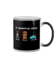 My Quarantine Routine dachshund3 Color Changing Mug thumbnail