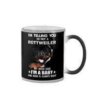 I'm telling you i'm not a rottweiler Color Changing Mug thumbnail