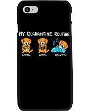 My Quarantine Routine Golden Retriever Phone Case thumbnail