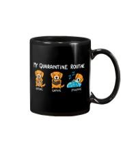 My Quarantine Routine Golden Retriever Mug thumbnail
