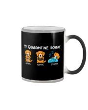 My Quarantine Routine Golden Retriever Color Changing Mug thumbnail