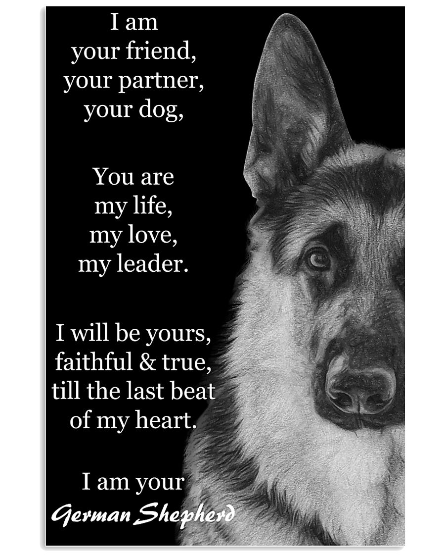 German I Am Your Friend Your Partner Your Dog  11x17 Poster