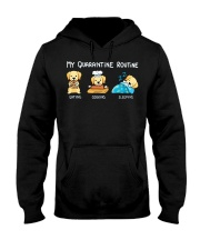 My Quarantine Routine Labrador Retriever3 Hooded Sweatshirt thumbnail