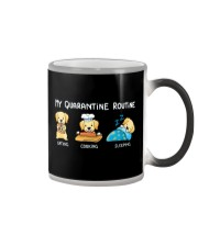 My Quarantine Routine Labrador Retriever3 Color Changing Mug thumbnail