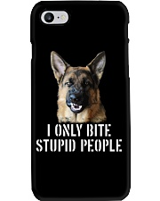 I Only Bite Stupid People German Shepherd Phone Case tile