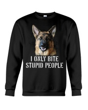 I Only Bite Stupid People German Shepherd Crewneck Sweatshirt tile