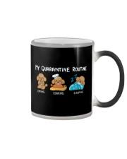 My Quarantine Routine poodle3 Color Changing Mug thumbnail