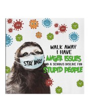 Sloth Stay Away Walk Away I Have Anger Issues Face Mask Best Friend Gifts Cloth face mask aos-face-mask-coverlet-lifestyle-front-02