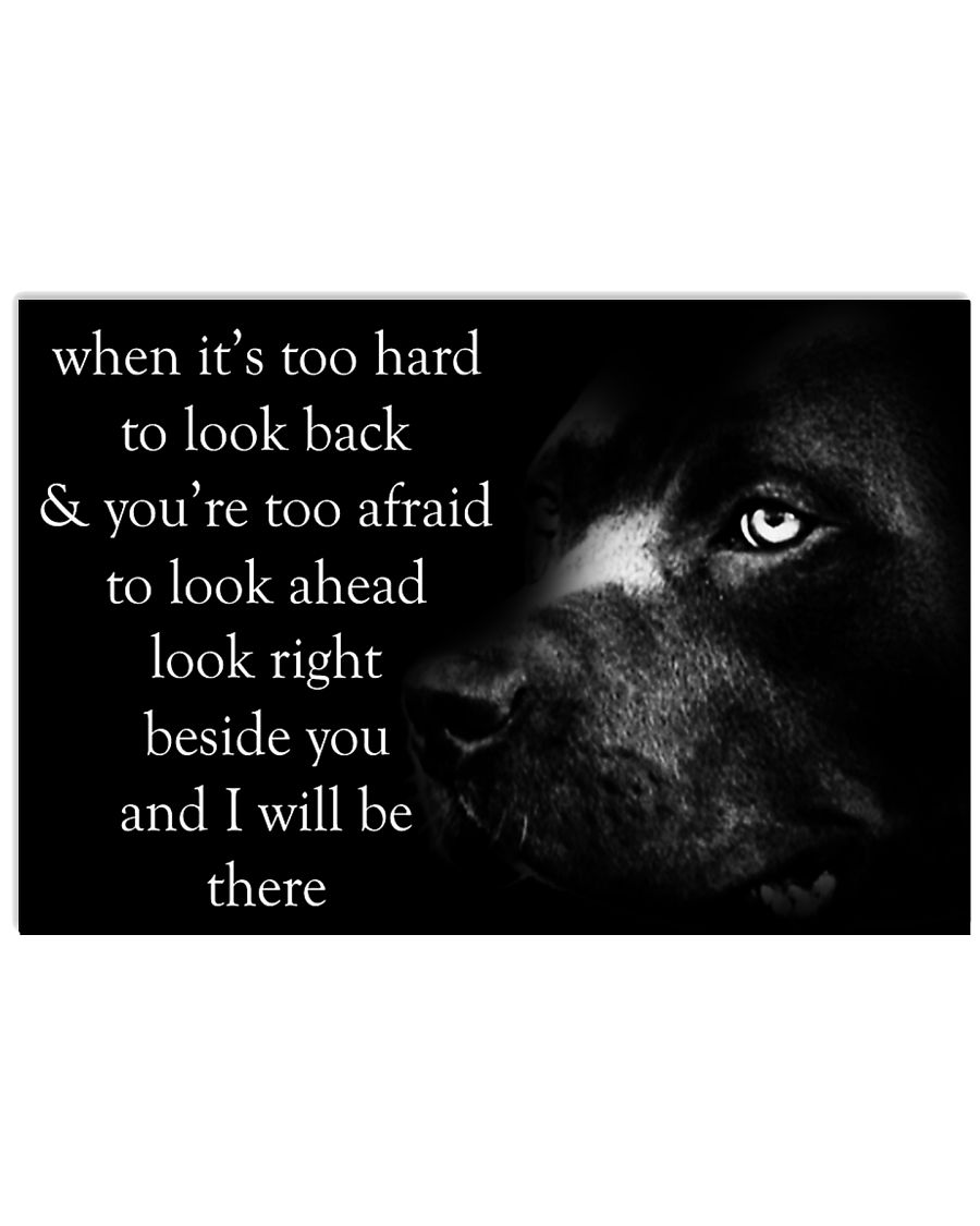 When It's Too Hard To Look Back pitbull 24x16 Poster