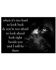 When It's Too Hard To Look Back pitbull 24x16 Poster front