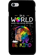 In A World Where You Can Be dachshund rain 7 color Phone Case thumbnail