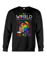 In A World Where You Can Be dachshund rain 7 color Crewneck Sweatshirt thumbnail