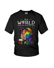 In A World Where You Can Be dachshund rain 7 color Youth T-Shirt thumbnail