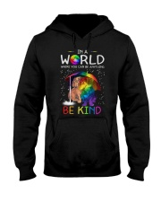 In A World Where You Can Be dachshund rain 7 color Hooded Sweatshirt thumbnail
