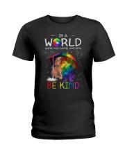 In A World Where You Can Be dachshund rain 7 color Ladies T-Shirt thumbnail