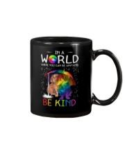 In A World Where You Can Be dachshund rain 7 color Mug thumbnail