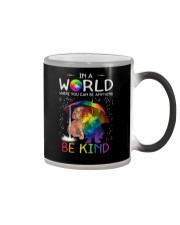 In A World Where You Can Be dachshund rain 7 color Color Changing Mug thumbnail