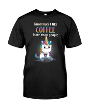 Unicorn coffee T-shirt best shirt for you Classic T-Shirt front