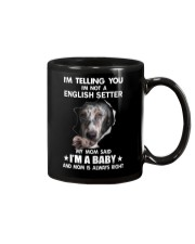 Im telling you im not a english setter edition Mug thumbnail