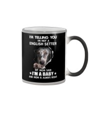 Im telling you im not a english setter edition Color Changing Mug thumbnail