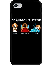 My Quarantine Routine beagle3 Phone Case thumbnail