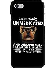 Im Curently Unmedicated And Unsuper Vised yorkie Phone Case thumbnail
