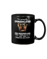 Im Curently Unmedicated And Unsuper Vised yorkie Mug thumbnail