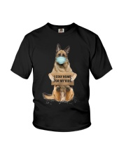I Stay Home For My Kids German Shepherd Youth T-Shirt thumbnail