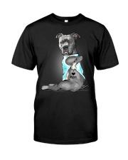 Pitbull I love mom Classic T-Shirt front