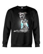 Pitbull I love mom Crewneck Sweatshirt thumbnail