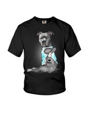 Pitbull I love mom Youth T-Shirt thumbnail