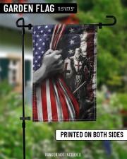 "Knights Temple Inside American Flag Garden Decor 11.5""x17.5"" Garden Flag aos-garden-flag-11-5-x-17-5-lifestyle-front-13"
