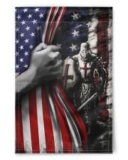 "Knights Temple Inside American Flag Garden Decor 11.5""x17.5"" Garden Flag front"
