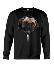 Pug zipper edition Crewneck Sweatshirt thumbnail