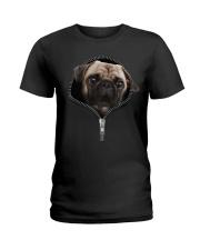 Pug zipper edition Ladies T-Shirt thumbnail