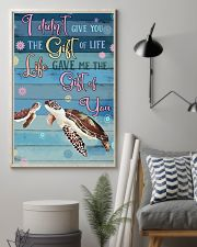 I Didnt Give You The Gift Of Life Gave Me turtle 11x17 Poster lifestyle-poster-1